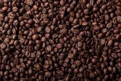 καφετής στενός καφές φασολιών ανασκόπησης επάνω στην όψη Στοκ Φωτογραφίες