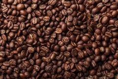 καφετής στενός καφές φασολιών ανασκόπησης επάνω στην όψη Στοκ Εικόνα