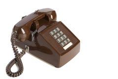 καφετής τηλεφωνικός τρύγ&om Στοκ Εικόνες