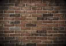 Καφετής τοίχος πετρών τούβλου Στοκ εικόνες με δικαίωμα ελεύθερης χρήσης