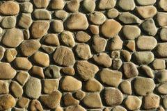 Καφετής τοίχος πετρών χαλικιών Στοκ Εικόνα