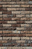 καφετής τοίχος τούβλου Στοκ εικόνα με δικαίωμα ελεύθερης χρήσης