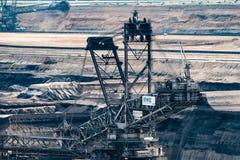 Καφετής του άνθρακα Digger - άποψη λεπτομέρειας του κύριου πύργου Στοκ Εικόνες