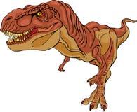 Καφετής τυραννόσαυρος rex Στοκ φωτογραφία με δικαίωμα ελεύθερης χρήσης
