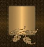 καφετής χρυσός ανασκόπησ&e Στοκ Εικόνες