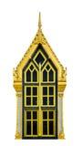 Καφετής χρυσός παραθύρων πορτών στο ναό Στοκ φωτογραφίες με δικαίωμα ελεύθερης χρήσης