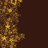 καφετής floral ανασκόπησης Στοκ Εικόνες