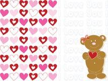 καφετής teddybear βαλεντίνος απεικόνιση αποθεμάτων