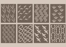 καφετί άνευ ραφής σχέδιο 8 απεικόνιση αποθεμάτων
