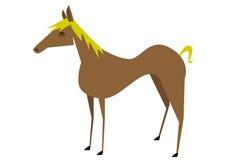 Καφετί άλογο διανυσματική απεικόνιση