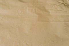 Καφετί έγγραφο της Kraft και τσαλακωμένη σύσταση υποβάθρου με το διάστημα Στοκ Φωτογραφίες