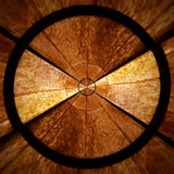 Καφετί ακτινωτό σπειροειδές αφηρημένο μέρος 2 σχεδίων αστεριών Στοκ εικόνα με δικαίωμα ελεύθερης χρήσης
