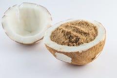 Καφετί αλεύρι καρύδων Στοκ Εικόνα