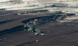Καφετί ανθρακωρυχείο στην Πολωνία Στοκ εικόνες με δικαίωμα ελεύθερης χρήσης