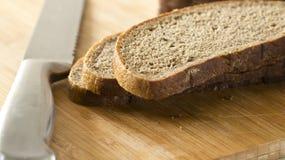 καφετί απομονωμένο λευκό ψωμιού ανασκόπησης Στοκ Εικόνες