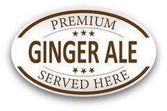 Καφετί ασφαλίστρου πιπεροριζών αγγλικής μπύρας εικονίδιο γραμματοσήμων εγγράφου εκλεκτής ποιότητας Στοκ Φωτογραφίες