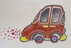 Καφετί αυτοκίνητο διανυσματική απεικόνιση