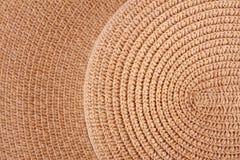 Καφετί αφηρημένο υπόβαθρο καπέλων ύφανσης για το φυσικό υλικό σχέδιο Στοκ Εικόνες