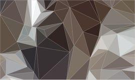 Καφετί αφηρημένο υπόβαθρο τριγώνων Στοκ Εικόνα