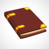 Καφετί βιβλίο κινούμενων σχεδίων ελεύθερη απεικόνιση δικαιώματος