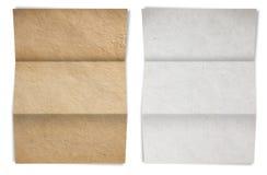 καφετί διπλωμένο παλαιό λευκό σύστασης εγγράφου Στοκ φωτογραφίες με δικαίωμα ελεύθερης χρήσης