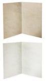 καφετί διπλωμένο παλαιό λευκό σύστασης εγγράφου Στοκ φωτογραφία με δικαίωμα ελεύθερης χρήσης