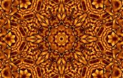 Καφετί κίτρινο καλειδοσκόπιο Στοκ φωτογραφία με δικαίωμα ελεύθερης χρήσης
