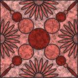 Καφετί και ρόδινο μαρμάρινο κεραμίδι σκιών με το σχέδιο λουλουδιών κα απεικόνιση αποθεμάτων