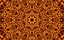 Καφετί καλειδοσκόπιο τετραγώνων Στοκ Εικόνα