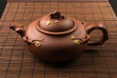 καφετί κινεζικό teapot Στοκ φωτογραφίες με δικαίωμα ελεύθερης χρήσης