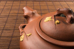 καφετί κινεζικό teapot Στοκ Φωτογραφία