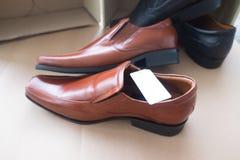 Καφετί κλασικό αρσενικό παπούτσι Στοκ Εικόνα