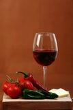 καφετί κόκκινο κρασί ανασκόπησης Στοκ Εικόνες