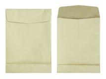 καφετί λευκό φακέλων εγ&gam Στοκ εικόνα με δικαίωμα ελεύθερης χρήσης