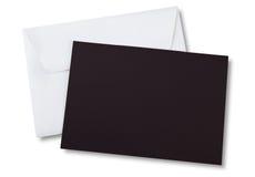 καφετί λευκό φακέλων καρτών Στοκ Φωτογραφία