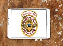 Καφετί λογότυπο εμπορικών σημάτων αγγλικής μπύρας του Νιουκάσλ Στοκ Εικόνες