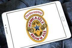 Καφετί λογότυπο εμπορικών σημάτων αγγλικής μπύρας του Νιουκάσλ Στοκ φωτογραφία με δικαίωμα ελεύθερης χρήσης