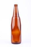 Καφετί μπουκάλι μπύρας για το κόμμα ποτών μπύρας στο άσπρο ποτό υποβάθρου που απομονώνεται Στοκ Εικόνες