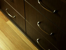 Καφετί ντουλάπι Στοκ Εικόνες