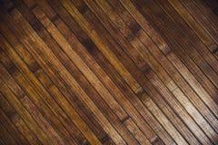 Καφετί ξύλινο παρκέ πατωμάτων στοκ εικόνες