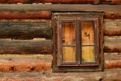 Καφετί παλαιό παράθυρο Στοκ Φωτογραφίες