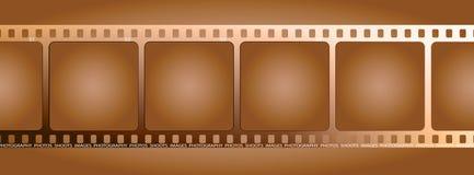 καφετί περίγραμμα ταινιών Στοκ εικόνα με δικαίωμα ελεύθερης χρήσης