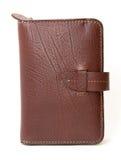 Καφετί πορτοφόλι ή πορτοφόλι δέρματος Στοκ Εικόνες