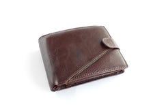 καφετί πορτοφόλι δέρματο&sig Στοκ εικόνα με δικαίωμα ελεύθερης χρήσης