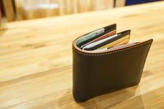 Καφετί πορτοφόλι ατόμων Στοκ Εικόνες