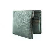 Καφετί πορτοφόλι με τις πιστωτικές κάρτες Στοκ Εικόνες