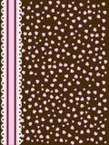 καφετί ροζ δαντελλών Στοκ Εικόνες