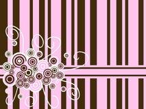 καφετί ροζ φόντου Στοκ Εικόνες