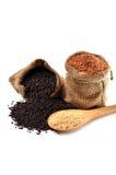 Καφετί ρύζι Στοκ εικόνα με δικαίωμα ελεύθερης χρήσης