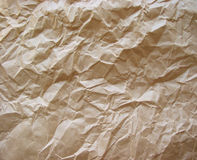 καφετί τσαλακωμένο έγγρα& Στοκ Φωτογραφία